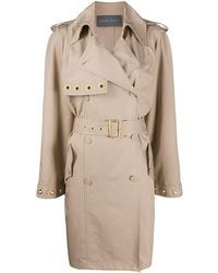 Alberta Ferretti Mid-length Trench Coat - Natural
