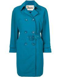 Herno Halflange Trenchcoat - Blauw