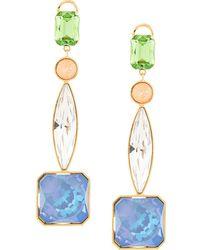 Shourouk Crystal Drop Earrings - Multicolor
