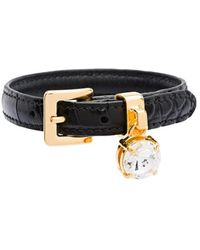Miu Miu Bejewelled Bracelet - Black