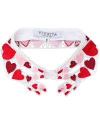 Vivetta Heart Embroidered Collar