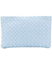 Bottega Veneta Intrecciato Zipped Clutch - Blue