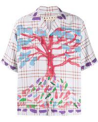 Marni ペイントツリー シャツ - ホワイト