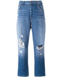 J Brand Ivy クロップドジーンズ - ブルー