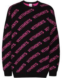 Vetements ロゴ セーター - ブラック