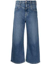 Calvin Klein Расклешенные Джинсы С V-образной Вставкой - Синий