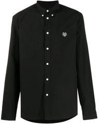 KENZO Рубашка С Вышитым Логотипом - Черный