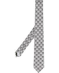 Moschino Cravate à motif monogrammé - Gris