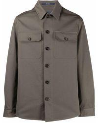 Drumohr ボタン シャツジャケット - グリーン