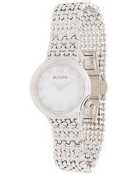 Bulova - Diamond Set Bracelet Watch - Lyst