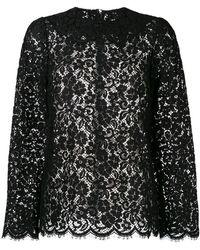 Dolce & Gabbana - Floral Pattern Blouse - Lyst