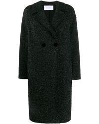 Harris Wharf London Glitter Knit Coat - Blue