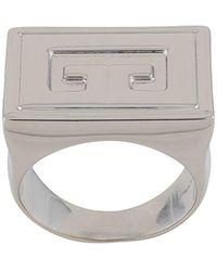 Givenchy Signet Ring - Metallic