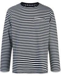 Engineered Garments ストライプ ロングtシャツ - ブルー