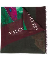 Valentino - Abstract Print Scarf - Lyst