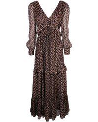 Diane von Furstenberg シルク ペイズリー ドレス - ブラック