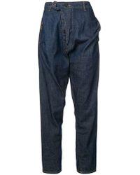 Vivienne Westwood Anglomania Alcoholic Asymmetric Jeans - Blue