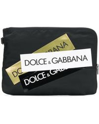 Dolce & Gabbana - Bolso de mano con múltiples rayas del logo - Lyst