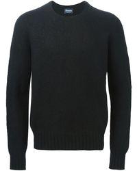 Drumohr クルーネック セーター - ブラック