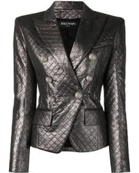Balmain - Quilted Fitted Blazer - Lyst
