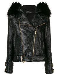 Balmain - Zipped Up Biker Jacket - Lyst