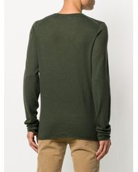 Zadig & Voltaire Fine Knit V-neck Sweater - Green