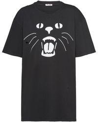Miu Miu - プリント Tシャツ - Lyst