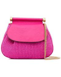 Alberta Ferretti Woven Satchel Bag - Pink