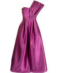 Sachin & Babi Robe longue à design à une épaule - Violet