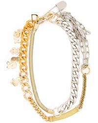 Sacai Dollar Multi Chain Necklace - Metallic