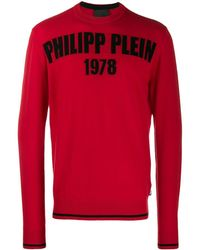 Philipp Plein Logo print sweater - Rot