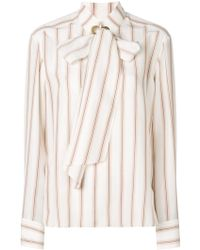 Chloé Striped Print Shirt - White