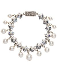 Miu Miu - Crystal And Synthetic Pearl Bracelet - Lyst