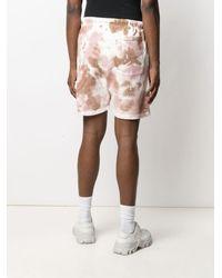 Paura Tie-dye Track Shorts - White