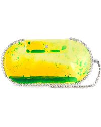 Christopher Kane Gel And Crystal Clutch - Yellow