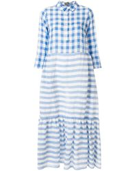 Altea - Check And Striped Dress - Lyst