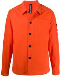 Raeburn ロゴパッチ シャツ - オレンジ