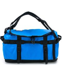 The North Face Logo Print Holdall Backpack - Blue