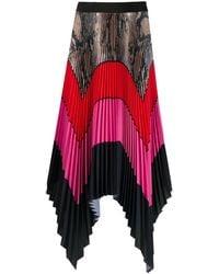 MSGM Colour-block Pleated Maxi Skirt - Black