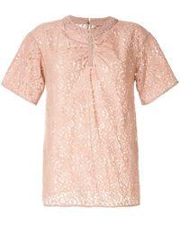 N°21 ギャザー Tシャツ - ピンク