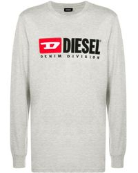 DIESEL T-just-ls-division Tシャツ - グレー