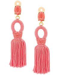 Oscar de la Renta - Tassel Drop Earrings - Lyst