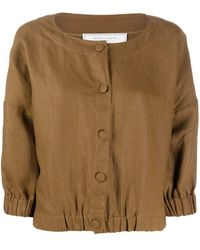 Societe Anonyme Button Front Blouse - Brown