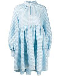 Stine Goya Jasmine ギンガム ドレス - ブルー