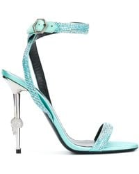 Philipp Plein Embellished Sandals - Blue