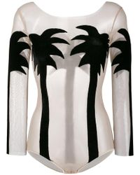 Alexia Hentsch - Silk Palm Tree Bodysuit - Lyst