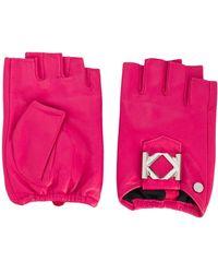 Karl Lagerfeld Vingerloze Handschoenen - Roze