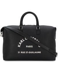 Karl Lagerfeld Weekender Printed Logo Tote Bag - Black