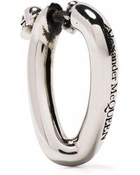 Alexander McQueen Серьги-кольца С Подвеской Skull - Металлик