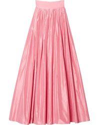 Carolina Herrera ボックスプリーツ マキシスカート - マルチカラー
